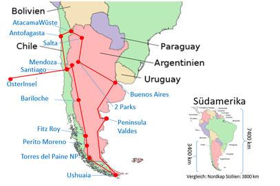 Reise Reisebericht Argentinien Chile