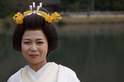 Der Kõraku-en-Garten in Okayama biete den Japanern die Kulisse für unzählige Familienfotos