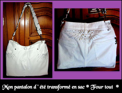 Pantalon transformé en sac