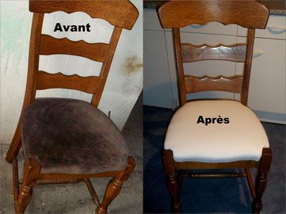 Chaise trouvée chez Emmaus