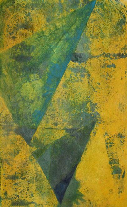 Montotypie, 16 x 23 cm, Acrylfarbe