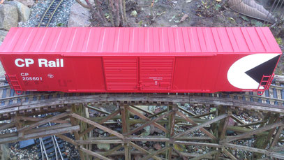 "USA Trains 60"" Box Car CPR top view"