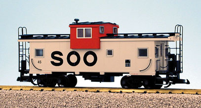 USA Trains SOO Extended Vision Caboose