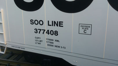 "USA Trains 60"" Box Car SOO Line detail lettering"