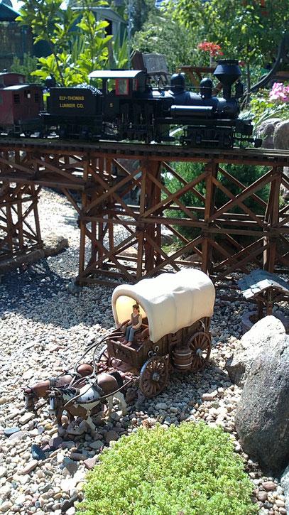 Bachmann Spectrum Shay auf meiner Trestle Bridge