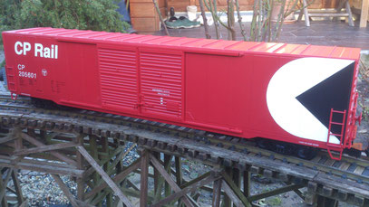 "USA Trains 60"" Box Car CPR side view"