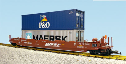 "BNSF ""Speed Lettering"" INTERMODAL CONTAINER CAR"