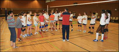 Stage Equipe de France féminine Junior de Volley Ball