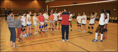 Stage Equipe de France féminine Junior de Volley Ball
