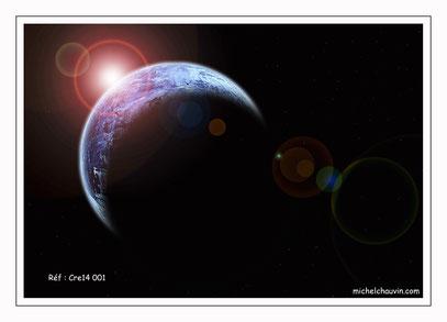 """""""Planète bleue 1"""" Réf : Cre14 001"""