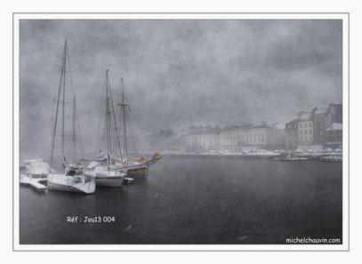 """""""Le port sous la neige """" Réf : Jou13 004"""