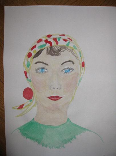 Christas Dame aus den 50er Jahren - ihr erstes Portrait