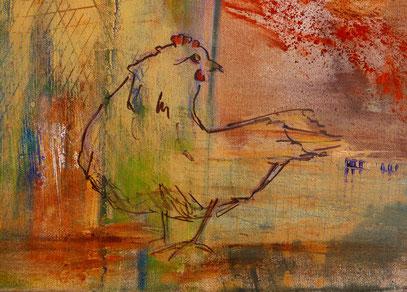 Hühnerstall Detail Henne