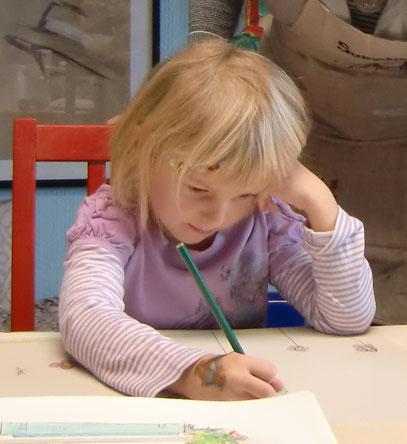 Anna voll konzentriert