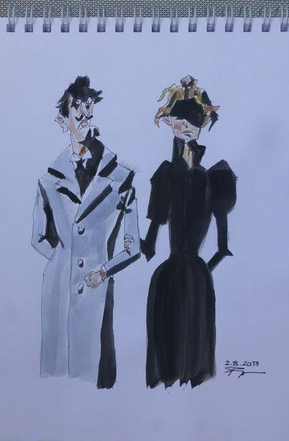 Düsteres Paar