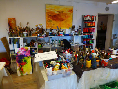 Das Atelier in der Kunstvilla