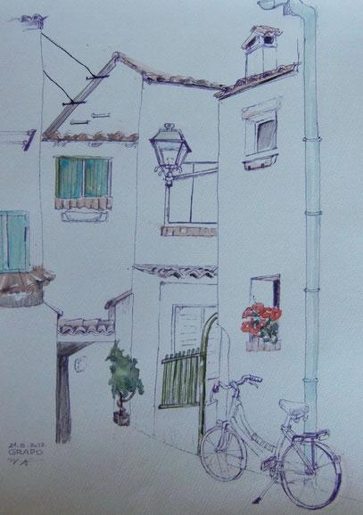 GRADO Zeichnung aquarelliert