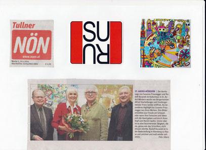 Pressebericht aus der N.Ö. Zeitung über unsere Vernissage mit Herrn Bürgermeister Stachelberger von St. Andrä Wördern und seinem Stellvertreter
