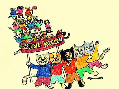 Geliebte Katzen