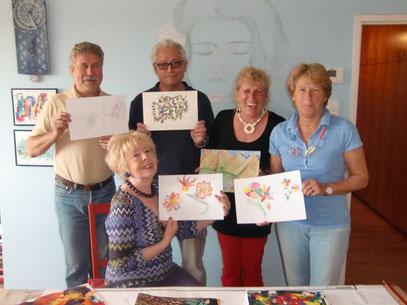 Die Gruppe mit ihren Werken