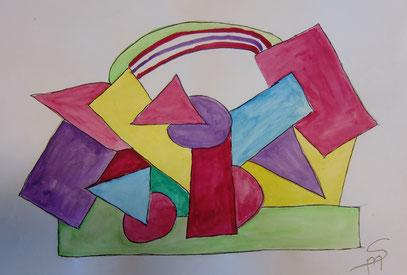 Omas kubistisches Bild