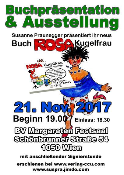 Alle 3 Bände ROSA Kugelfrau gibt es ab 21.11.2017