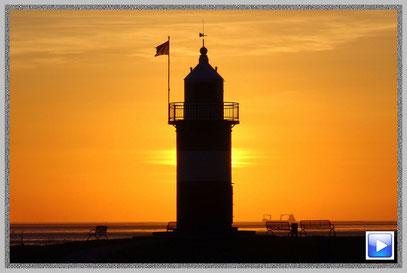 """Leuchtturm """"Kleiner Preuße"""" im Nordseebad Wremen"""