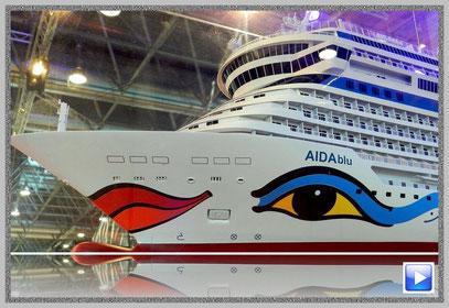 Modell der AIDAblu auf der Boot Düsseldorf