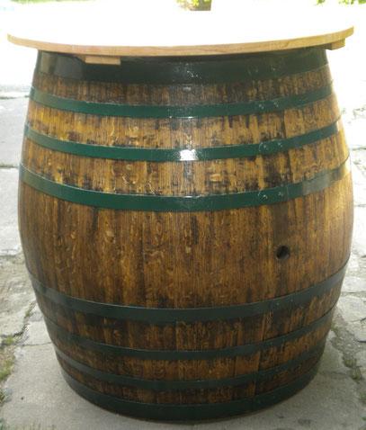 Stehtisch aus Weinfass