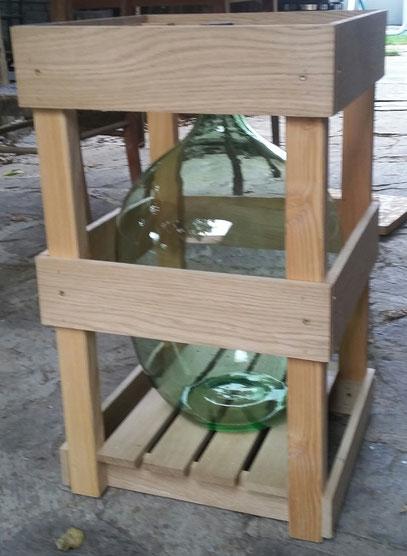 Holzgestell für Glasballon