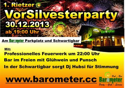 Vor Silvester Party 2013 im Barometer Rietz Tirol