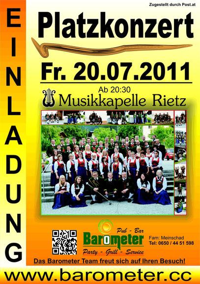 Musik Platzkonzert Rietz 2012