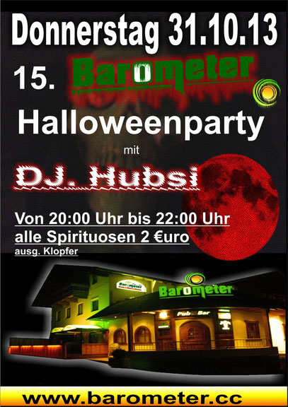 Halloween Party 2013 in Rietz Pub Traditionell