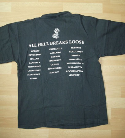 All Hell Breaks Loose Tourshirt Back