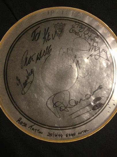 signed drum skins