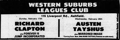 Sydney Morning Herald 22 February 1985 - AD