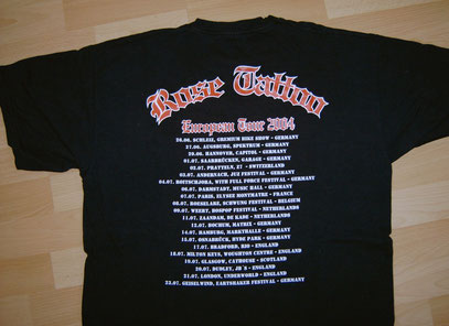 Tourshirt Back