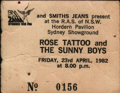 Thanks to David Williams for the Picture of the Concert-Ticket