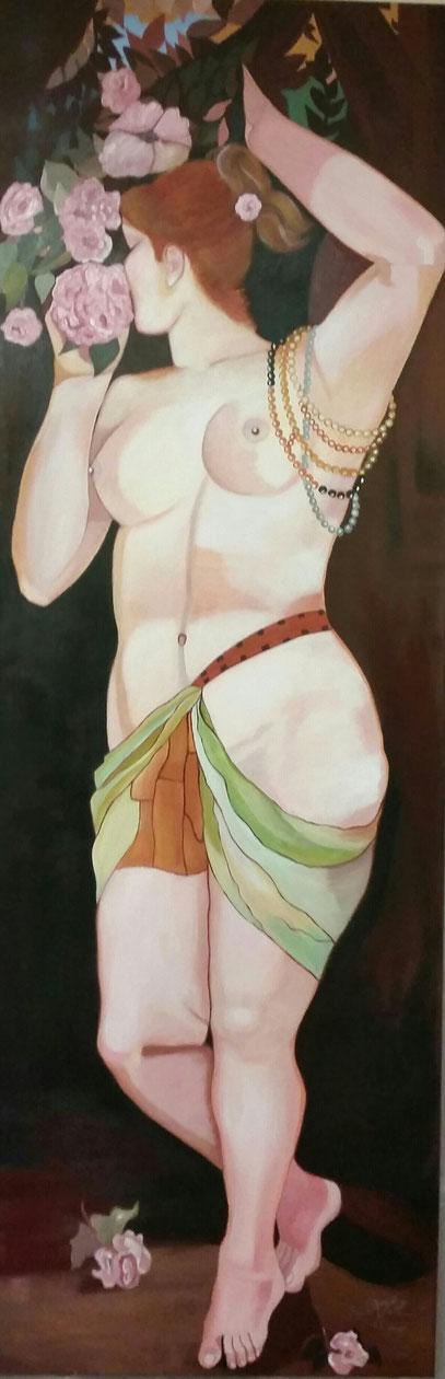 """Eines von den Werken Hans Makarts """"Die fünf Sinne """" - Der Geruch -gemalt nach meinem Empfinden"""
