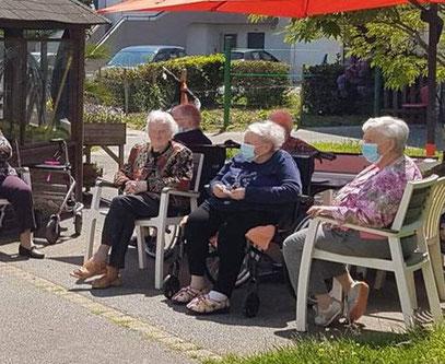 Les résidents de l'Ehpad ont passé un bon moment en musique