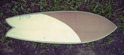 Fish surfboard wood elleciel thailand