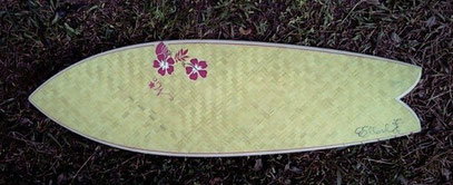 Elleciel bamboo fish surfboard custom Thailand