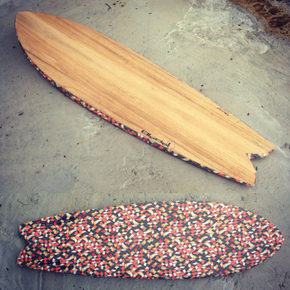 fish surfboard paulownia wood Lis