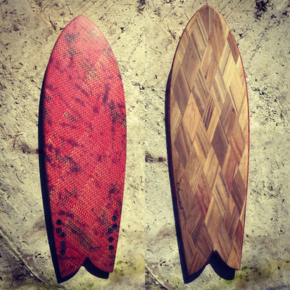 Elleciel Custom Surfboards Phuket Thailand Paulownia Wood Epoxy EPS