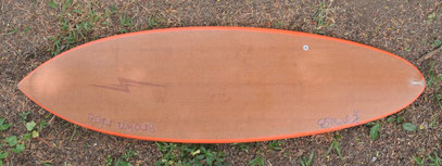 single fin surfboard lace wood elleciel