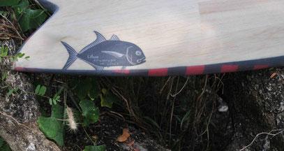 Fish surfboard balsa elleciel thailand