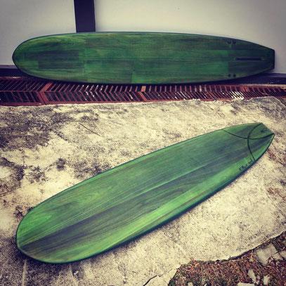 Longboard surfboard Wood