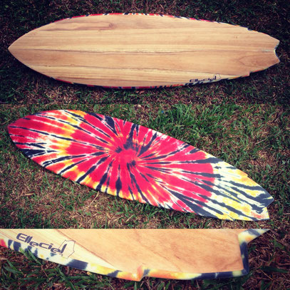 Fish surfboard paulownia wood Mark Richards