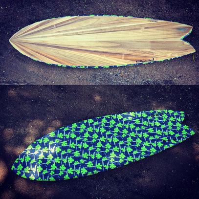 #474 Tribal Fish Venturi bottom 5'8""