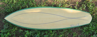 elleciel custom surfboards single fin wood
